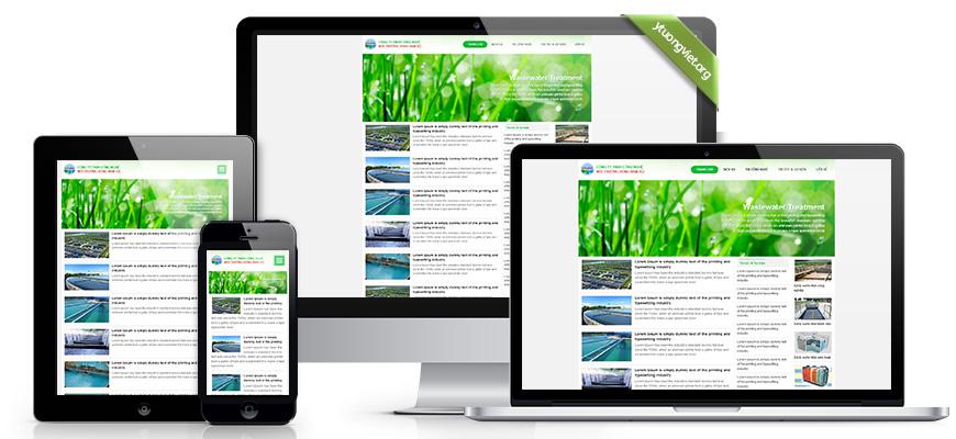 Thiết kế website responsive môi trường congtyxulynuocthai.com