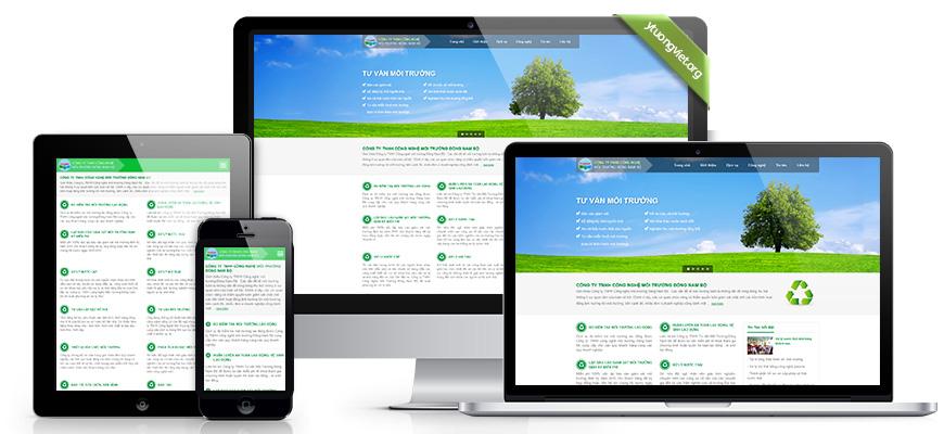Thiết kế website responsive môi trường moitruongdongnambo.com