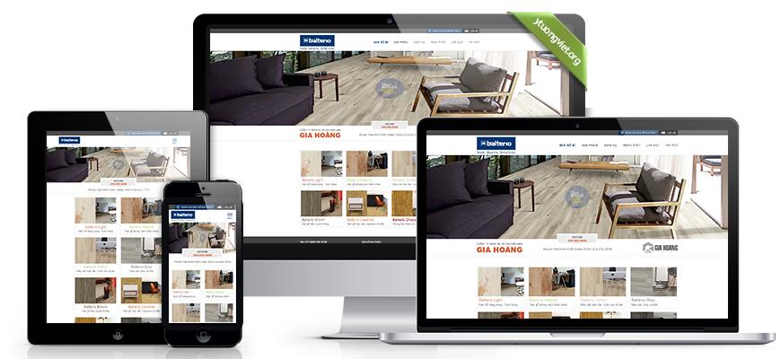 Thiết kế website responsive sàn gỗ sangobi.com