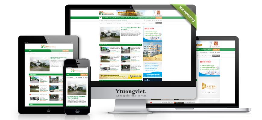 Thiết kế website responsive bất động sản nhaxuong.vn
