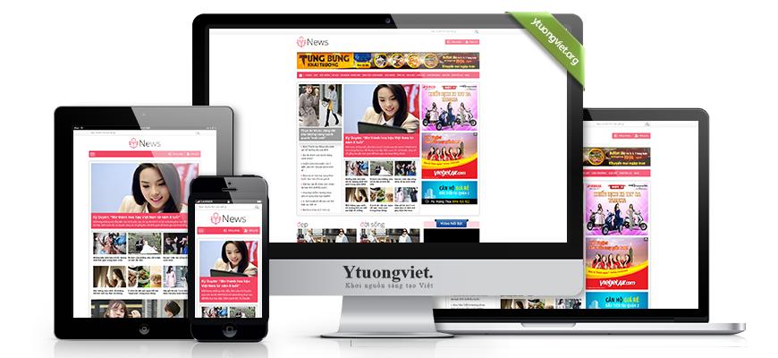 Thiết kế website responsive tin tức tapchikhoedep.vn