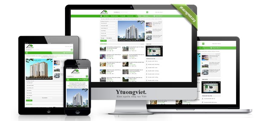Thiết kế website responsive bất động sản batdongsanabc.vn