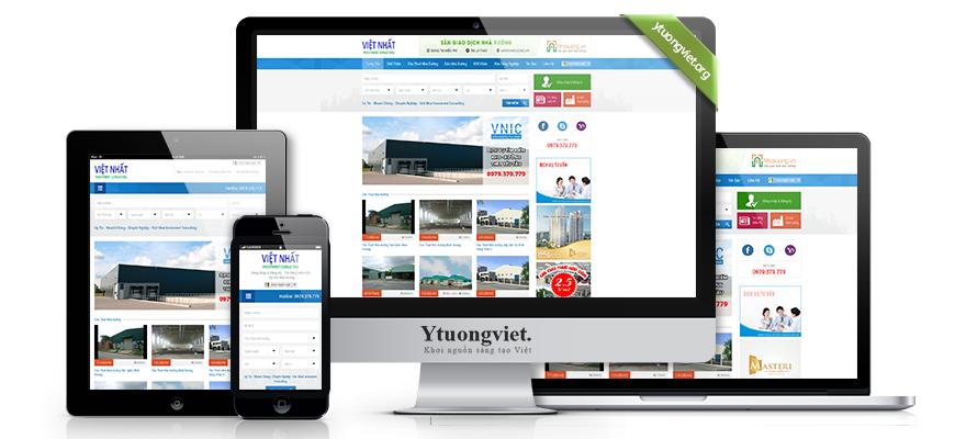 Thiết kế website responsive bất động sản nhaxuongbinhduong.com.vn
