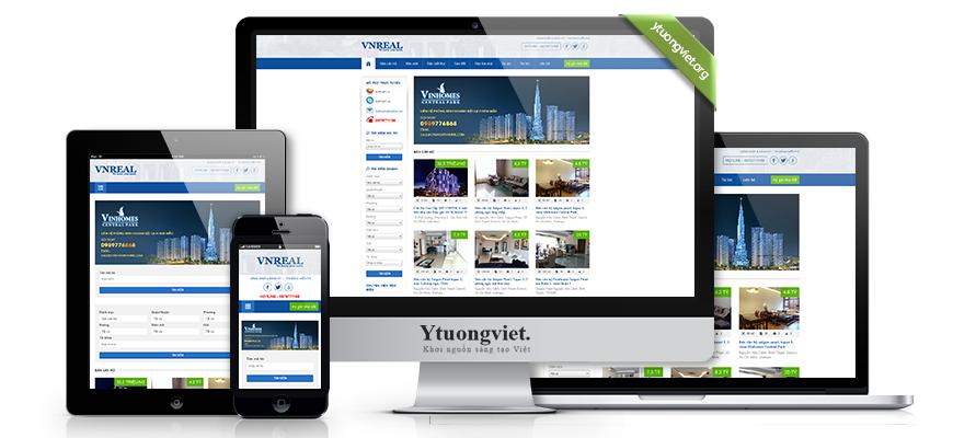 Thiết kế website responsive bất động sản snhadat.com.vn