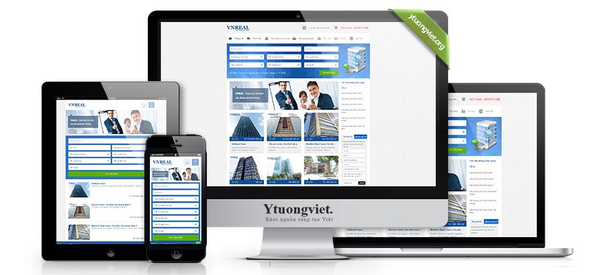 Thiết kế website responsive bất động sản vanphongquan1.com