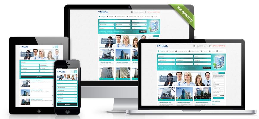 Thiết kế website responsive bất động sản vanphongquan3.com