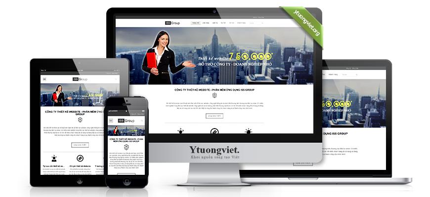 Thiết kế website responsive công ty thietkewebsite-iss.com