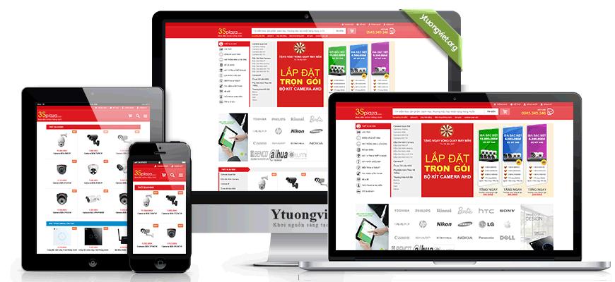 Thiết kế website responsive điện máy điện tử 3splaza.com