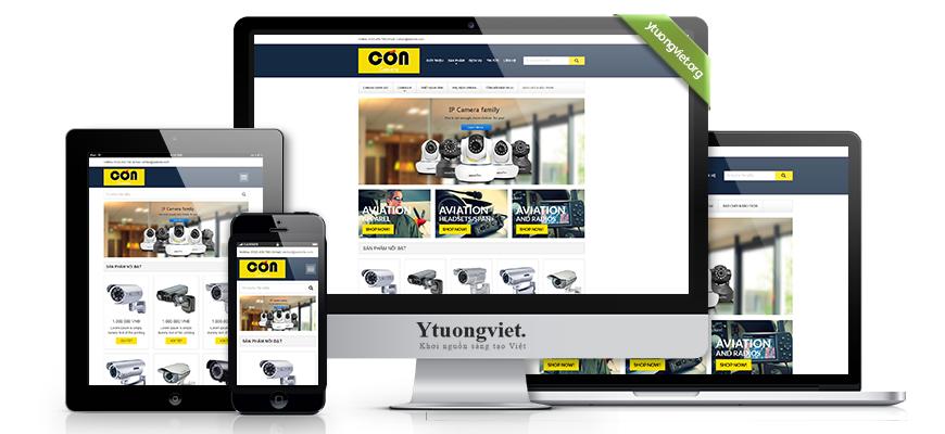 Thiết kế website responsive điện máy điện tử concamera.com
