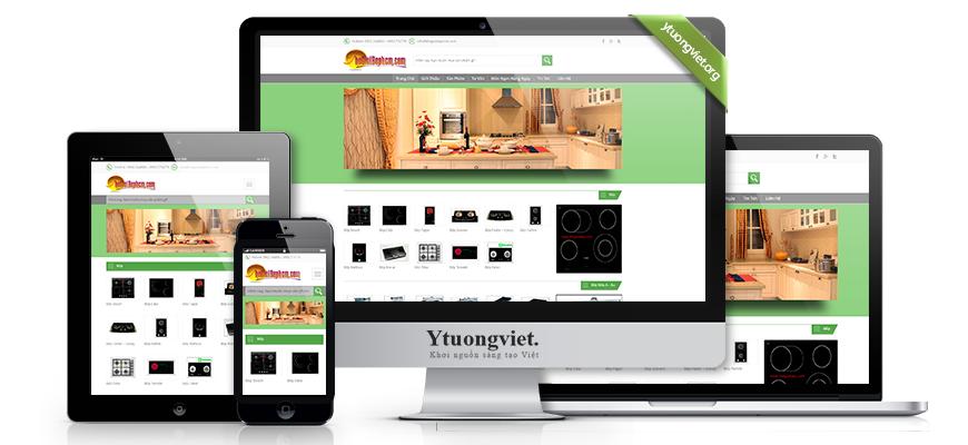 Thiết kế website responsive điện máy điện tử thegioibephcm.com
