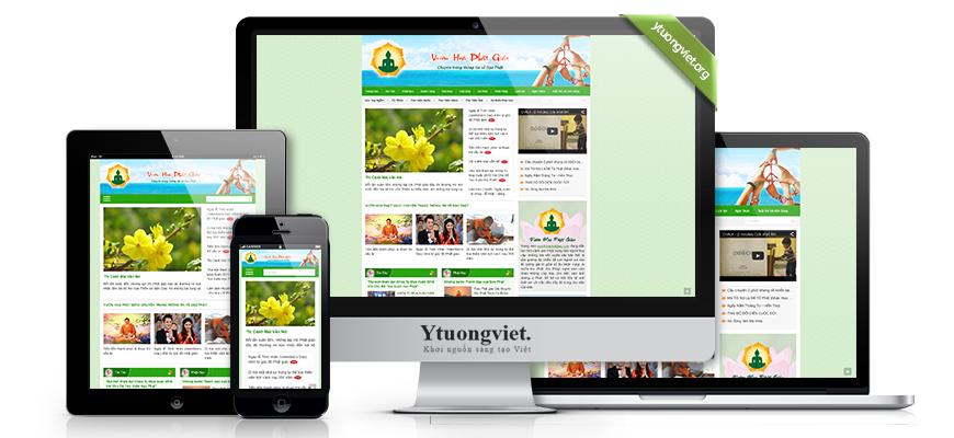 Thiết kế website responsive phật giáo vuonhoaphatgiao.com