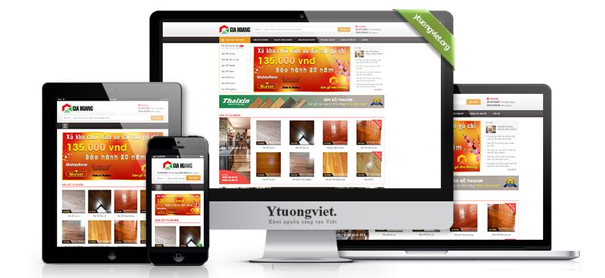 Thiết kế website responsive sàn gỗ sangogiahoang.com