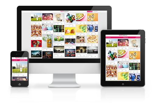 Thiết kế website responsive úp ảnh miễn phí